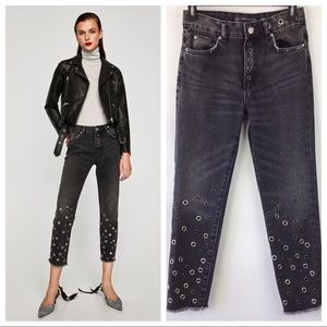 Zara Trafaluc Denim Jeans Eyelets 00 (621)